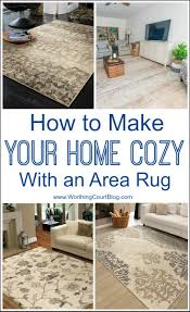 how to make your home cozy using an area rug arearugs cozyroomdecor