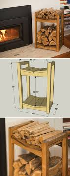 wood storage diy firewood storage rack free printable plans on buildsomething com keep
