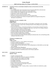 Wedding Coordinator Resume Samples Velvet Jobs