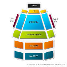 Southern Kentucky Performing Arts Center 2019 Seating Chart