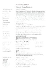 sample resume for security security guard resume template 2 sample resume  security guard entry level