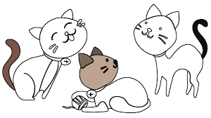 Small Picture How to Draw Cat and Dog Coloring Pages Animals Drawing Cat Dog