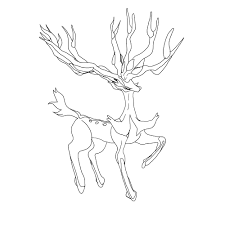 Legendary Pokemon Coloring Pages Xerneas Coloringstar