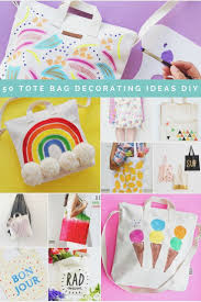 Best DIY Round Up Decorating A Blank Canvas Tote Bag