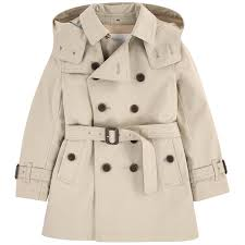 burberry boy trenchcoat removable hood 148319