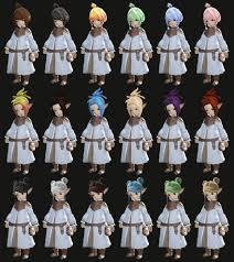 言霊木霊 ララフェル髪型シミュレーション