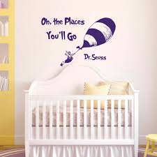 WALL DECAL QUOTES Oh The Places You'll Go By Dr Seuss Dr Etsy Unique Wall Decal Quotes