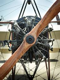 bleriot xi airplane by peter adams the wooden propeller