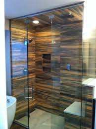 4 panel steam shower with beautiful tile