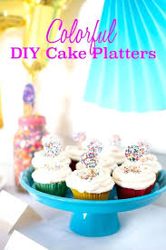 diy cake stand easy colorful cake platters diy cake stand bling