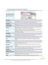 Home Inspection Report Template Pdf Free Form Excel