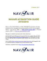 Navair 4 5 Org Chart Navair Acquisition Guide 2014 2015