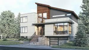 3 story modern style house plan 7885