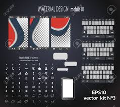 Abstract User Interface Templates Of Overlaps Paper Set Of Ui