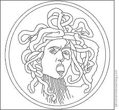 Small Picture Caravaggio Medusa Coloring Page EnchantedLearningcom