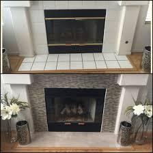 diy fireplace makeover under 100 smart tiles in muretto beige 70 home depot rustoleum