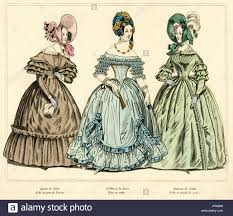Lajure Designs French Fashion From 1837 Hand Coloured Illustration From L