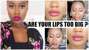 how to make big lips look smaller tips you