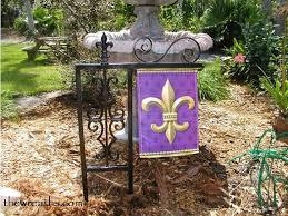 garden flag holders. Flag Holder, Garden Fleur De Lis Lawn Holder Holders E