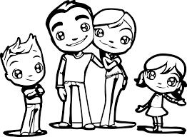 Stunning Family Coloring Sheets My Drawing At Getdrawings Com Free