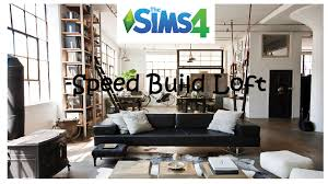 Loft Bedroom Privacy The Sims 4 Loft Bedroom Speed Build Youtube