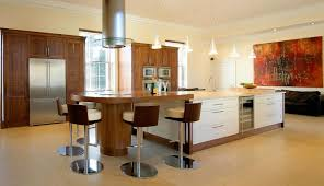 Luxury Kitchen Bar Stool Set With Round White Cushion And Wooden Back