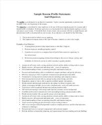 resume with profile statement resume profile statements and objective statement summary generator