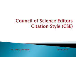 Ppt Council Of Science Editors Citation Style Cse Powerpoint