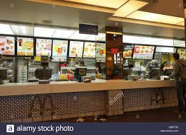 mcdonalds inside counter. Simple Inside Counter At Mcdonaldu0027s Restaurant In Malaga Spain  Stock Image Inside Mcdonalds