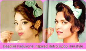 Retro Hair Style deepika padukone inspired retro updo hairstyle hindi youtube 2722 by wearticles.com