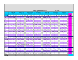 Free Excel Templates For Scheduling Employees And Weekly Employee