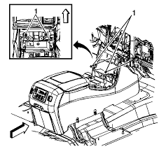 center console disassembly