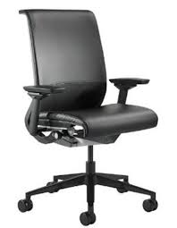 steelcase think office chair. Steelcase Think Leather Chair, Black Open Box Office Chair