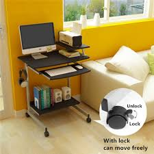 computer furniture for home. Modern Computer Desk Home Mobile Laptop Space Saving Simple Study Table Small Desktop With Lock-in Desks From Furniture On Aliexpress.com For
