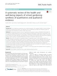 The Stephanie Alexander Kitchen Garden National Program A Systematic Review Of The Health And Well Being Impacts Of School