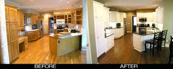 painting wood kitchen cabinetsOak Kitchen Cabinets Painted White Before And After Antique Paint