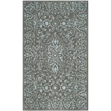 safavieh glamour 8 x 10 hand tufted wool rug in blue and dark gray