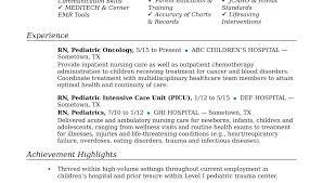 Resume For Nursing Job Sample Resume For Nurses With Job Description