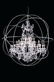 large sphere chandelier lighting attractive sphere wire sphere crystal chandelier large