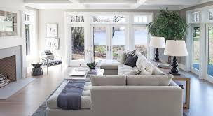 Large Living Room Furniture Family Room Seating And Large Painless Windows Set On Either Side