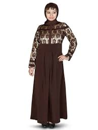 Brown Abaya Designs Mybatua Brown Poly Crepe Arabian Dailywear Islamic Muslim Long Abaya With Hijab