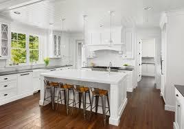 White Kitchen Wood Floor White Cabinets Tile To Hardwood Transition