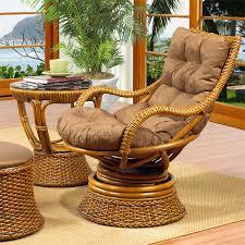 south beach rattan swivel rocker chairs royal oak and espresso