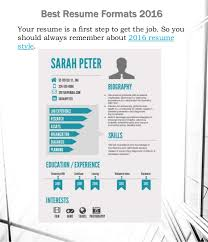 Perfect Design Best Resume Style Resume Style Format The Best Resume