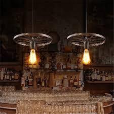 vintage black brown pendant lighting industrail wrought iron chandelier modern ceiling lights antique mini pendant ceiling lamp drum pendant