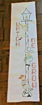 Watch Me Grow Growth Chart Counted Cross Stitch Charles