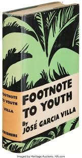 José Garcia Villa Footnote To Youth New York 1933 First Lot