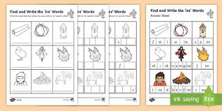 Then they will love this printable build a word game. Find And Write The Ire Words Worksheet Teacher Made