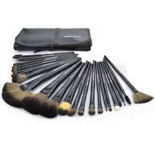 make up for you professional portable beauty makeup brush set with black bag 24