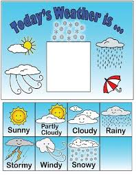 Weather Chart Observe And Keep Track Of The Weather Each Day With This Fun